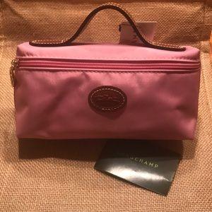 Longchamp pink mini cosmetic case